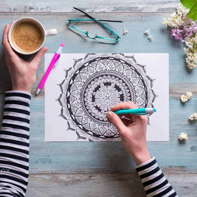 The Gifted Type colouring book