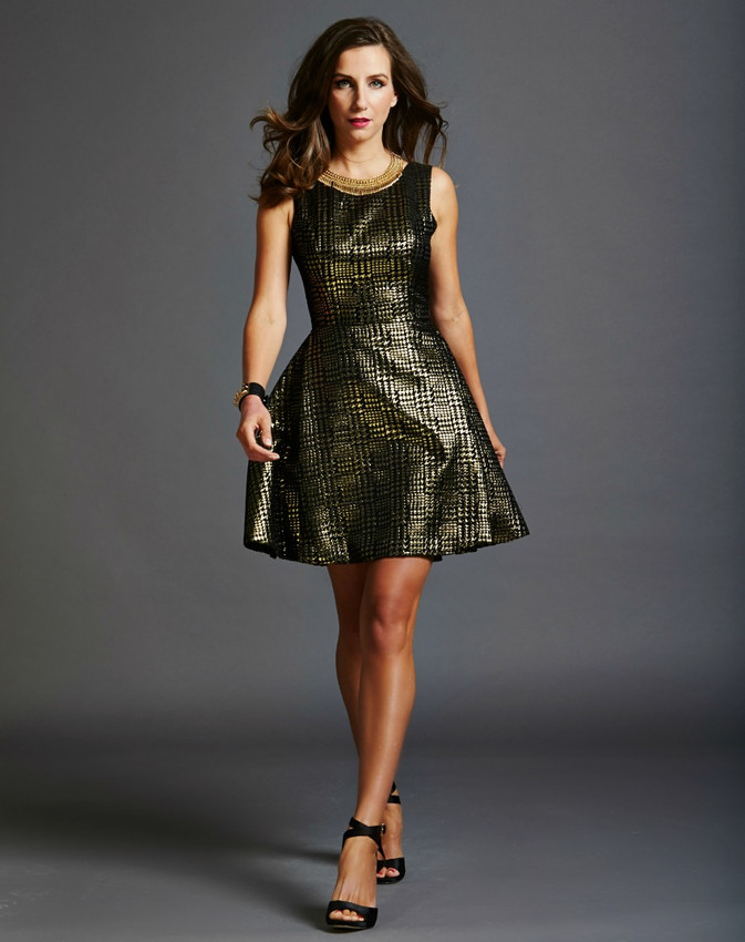 Copious Black & Gold Dress