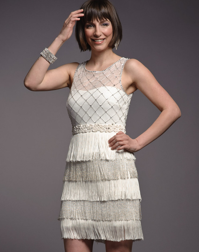 Badgley Mischka flapper