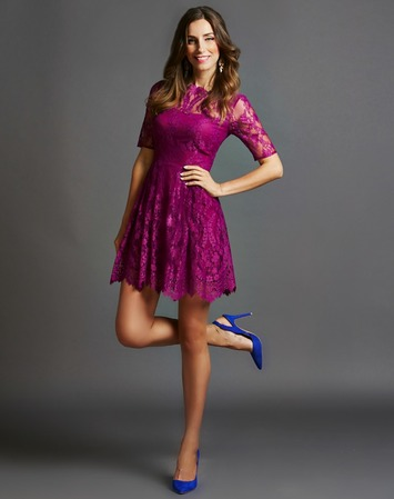 Cynthia Steffe Cerise Lace Dress