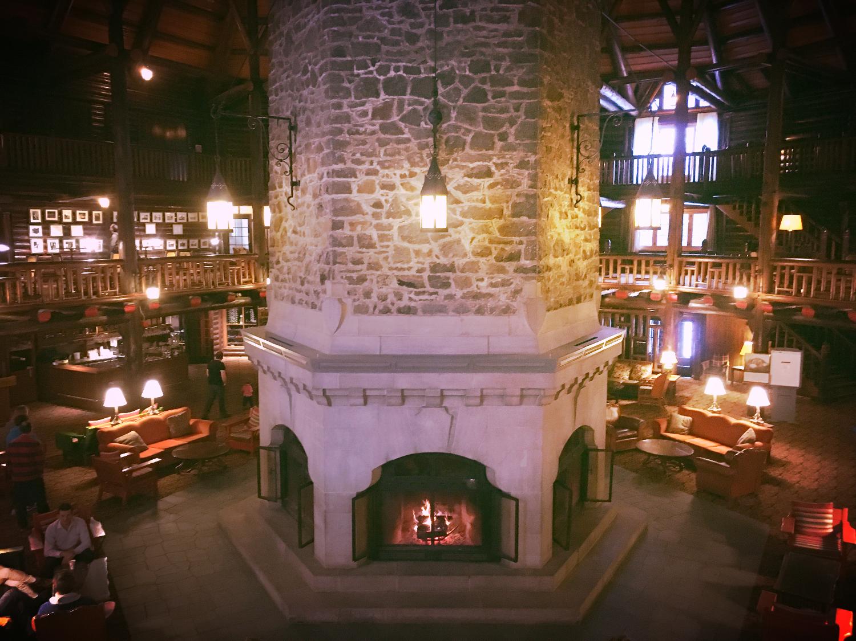 The epic multi-storey fireplace