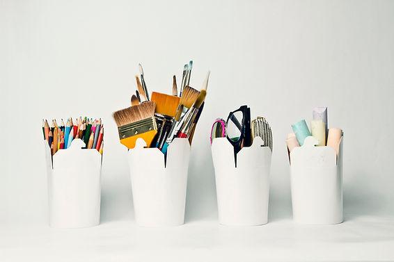 Os recipientes de armazenagem para a art