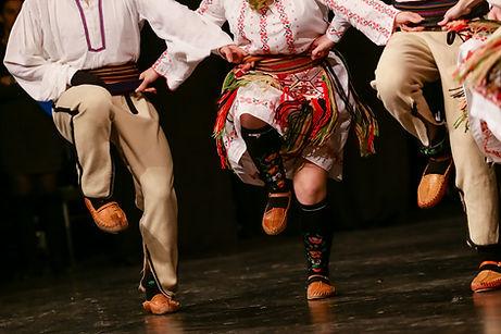 Zapatos de bailarina folk