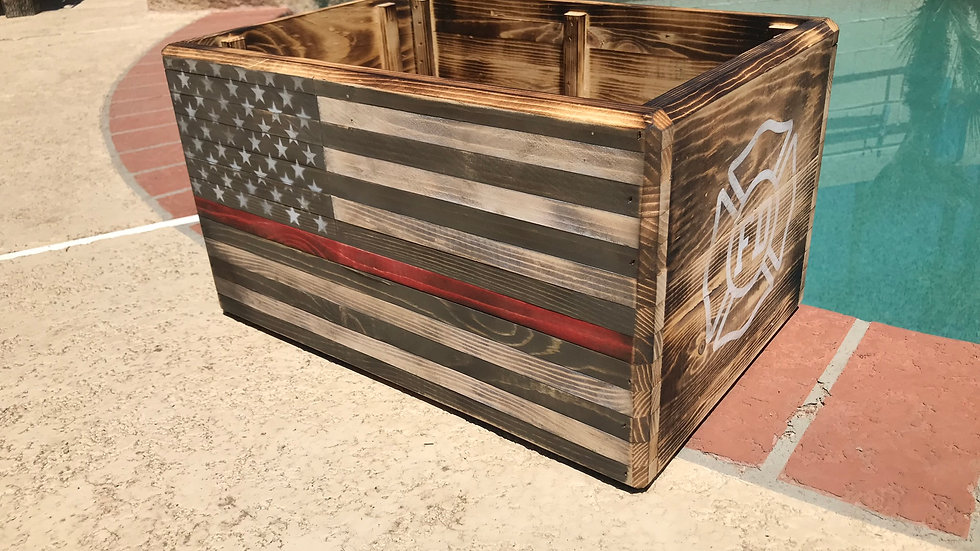 Rustic Thin Line Crate