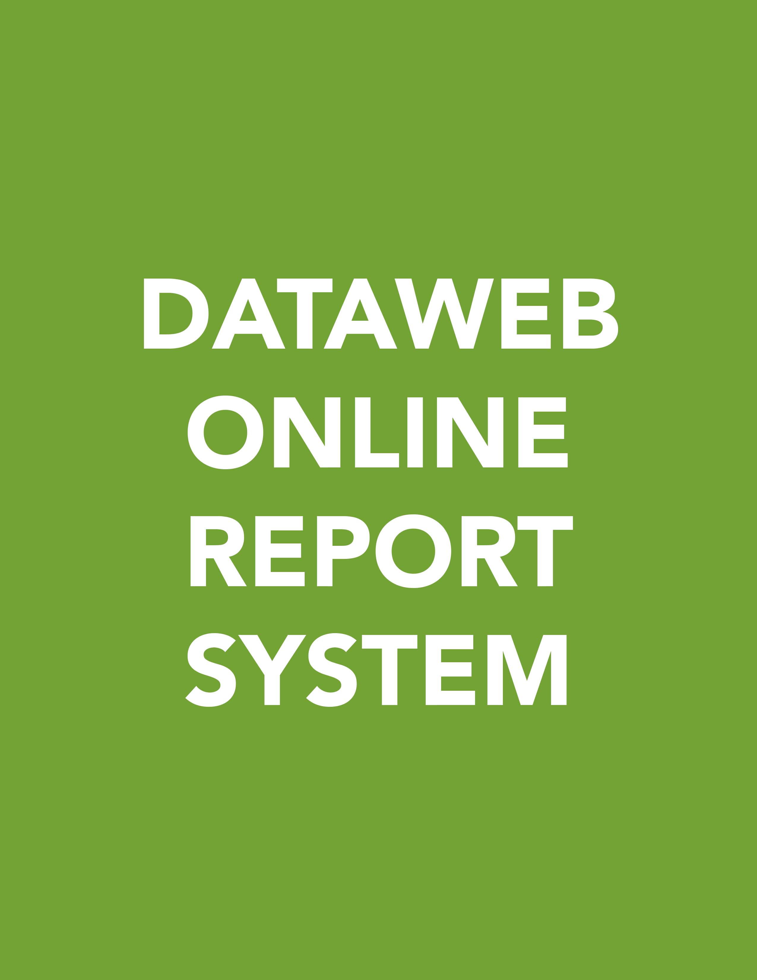 Dataweb Online Report System
