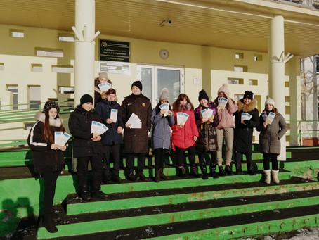Юные бликеры поздравили с Днем Матери жителей Петропавловска