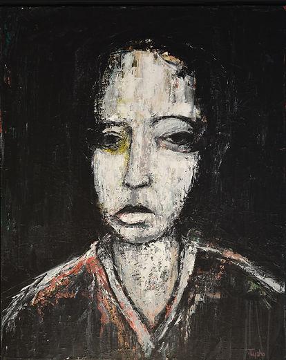 The_Cellist 75 x 60 cm acrylic on canvas