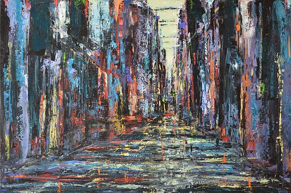 Urbania_No_6 60 x 90 cm acrylic on canva