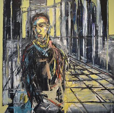 City_Boy 120 x 120 cm acrylic on canvas