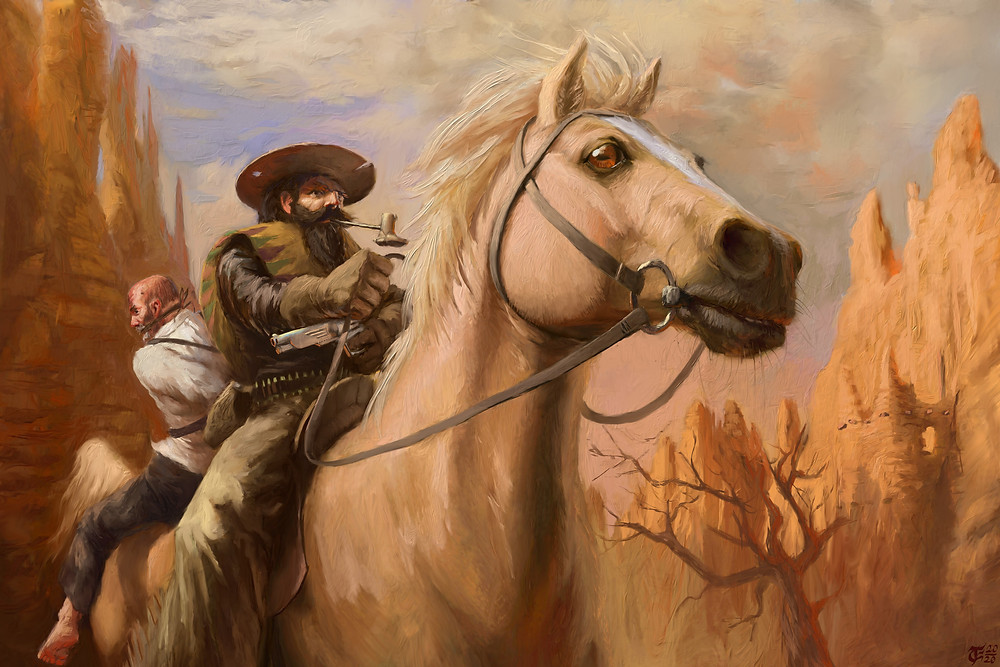 Horses are hard. People are hard. People riding horses are harder. There's something about cowboys that does not sit right with me. I'm sure they're supposed to be some low fantasy subgenre but the fact that they were real weirds me out. that and pirates, they shouldn't have existed, but they did, and I'm scared.