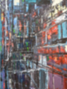 Urbania_No_1  100 x 75 cm acrylic on can