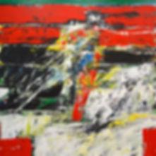 Elemental_No_18 120 x 120 cm acrylic on
