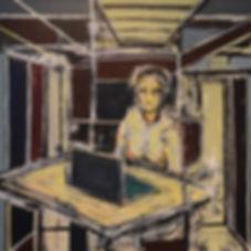 The_Administrator  90 x 90 cm acrylic on