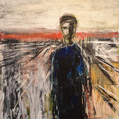 Figure_in_a_Landscape_No_1 90 x 90 cm ac