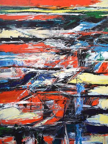 Elemental_No_7 100 x 75 cm acrylic on ca