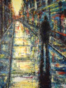 Sundown  100 x 75 cm acrylic on canvas 2