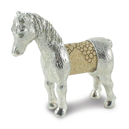 Pewter Wine Cork Horse Sculpture