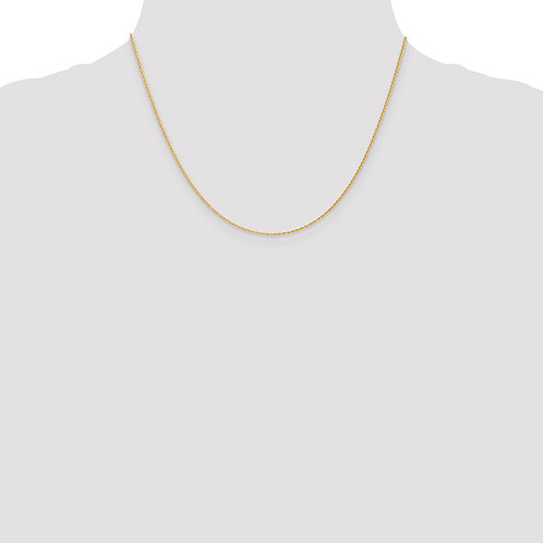 14k 1.1mm Baby Rope Chain- 18 Inches