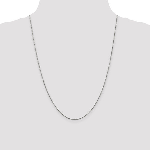 14k WG 1.1mm Baby Rope Chain- 24 Inches