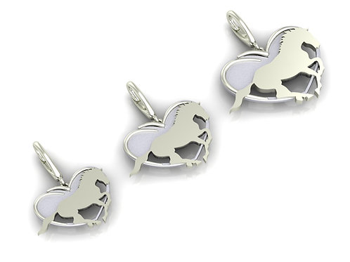 Sterling Silver Dime Size Logo Earrings