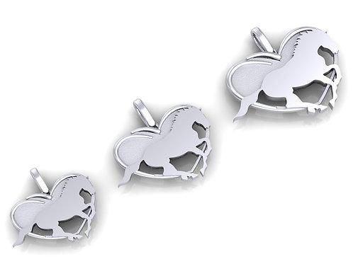 Sterling Silver Dime Size Logo Pendant