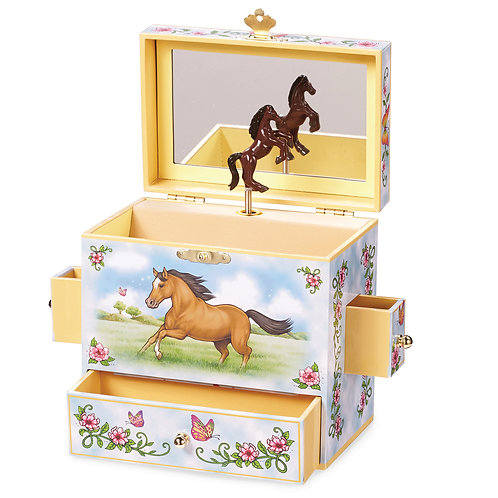 Childrens Horse Wild And Free Musical Jewelry Box