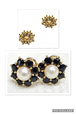Sapphire & Pearl Earrings