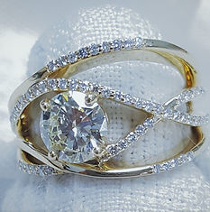 Custom gold heart pendant with diamonds