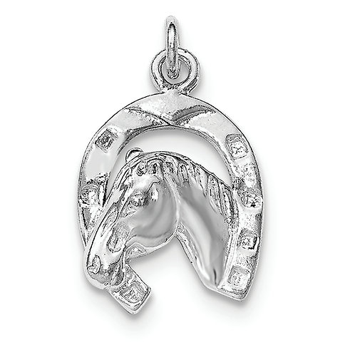 Sterling Silver Polished Horse Pendant