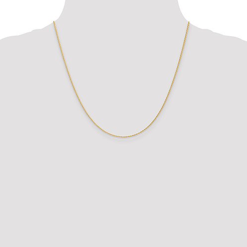 14k 1.1mm Baby Rope Chain- 20 Inches