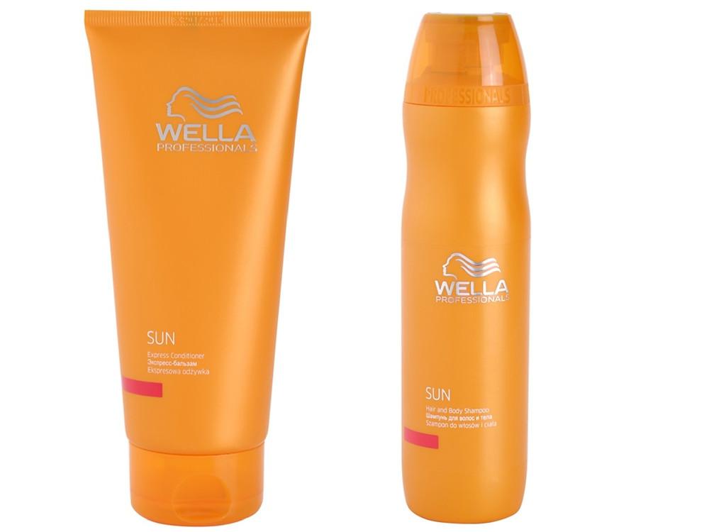 WELLA SUN - Šampon pro vlasy i tělo po slunění + Kondicionér pro opravu a regeneraci vlasů