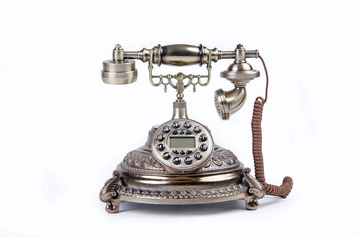 Teléfono Antiguo Bronze