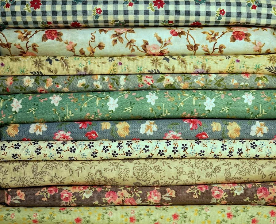 Fabrics Selected for Patchwork Curtains.