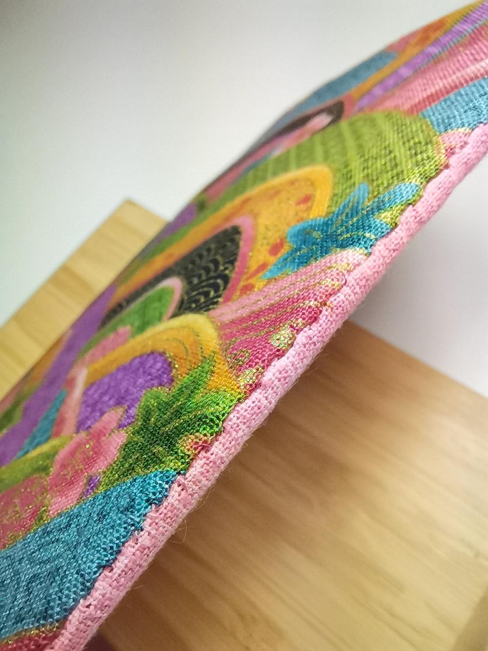 ladder slip stitch close up