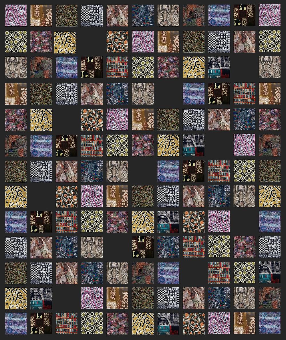 memory square patchwork quilt design