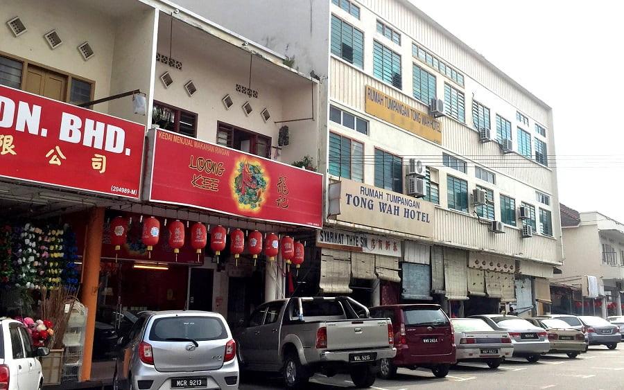 Kee Ann Road tailors building facade.