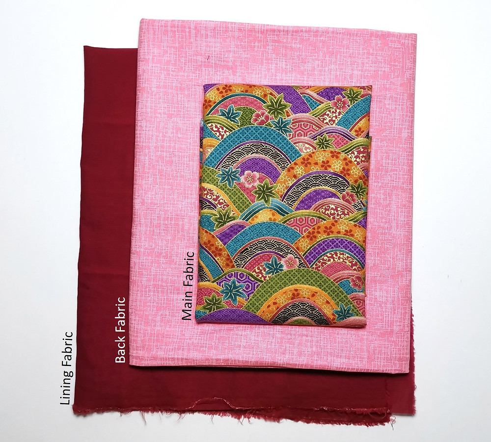 oriental fabric bundle pink and red