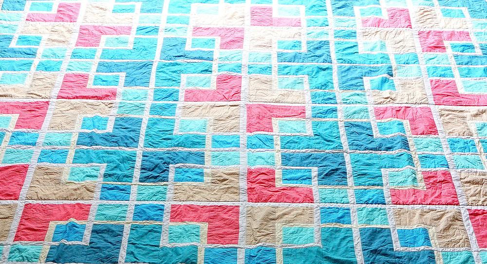 colourful lattice quilt crumple