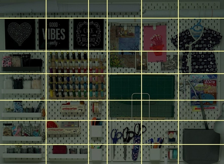 How to arrange items on pegboards