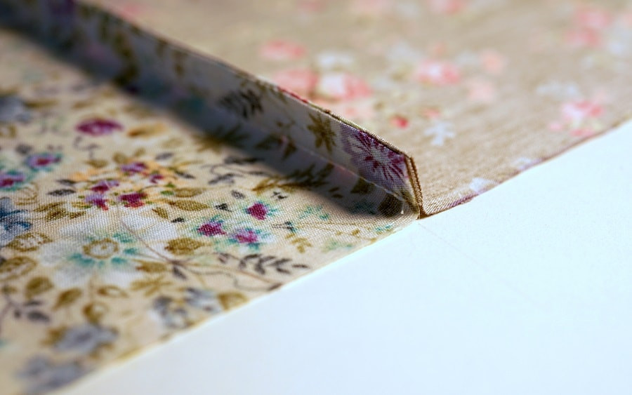 Use french seams to piece the fabric squares together, so no raw edges are exposed at the back of the curtains.