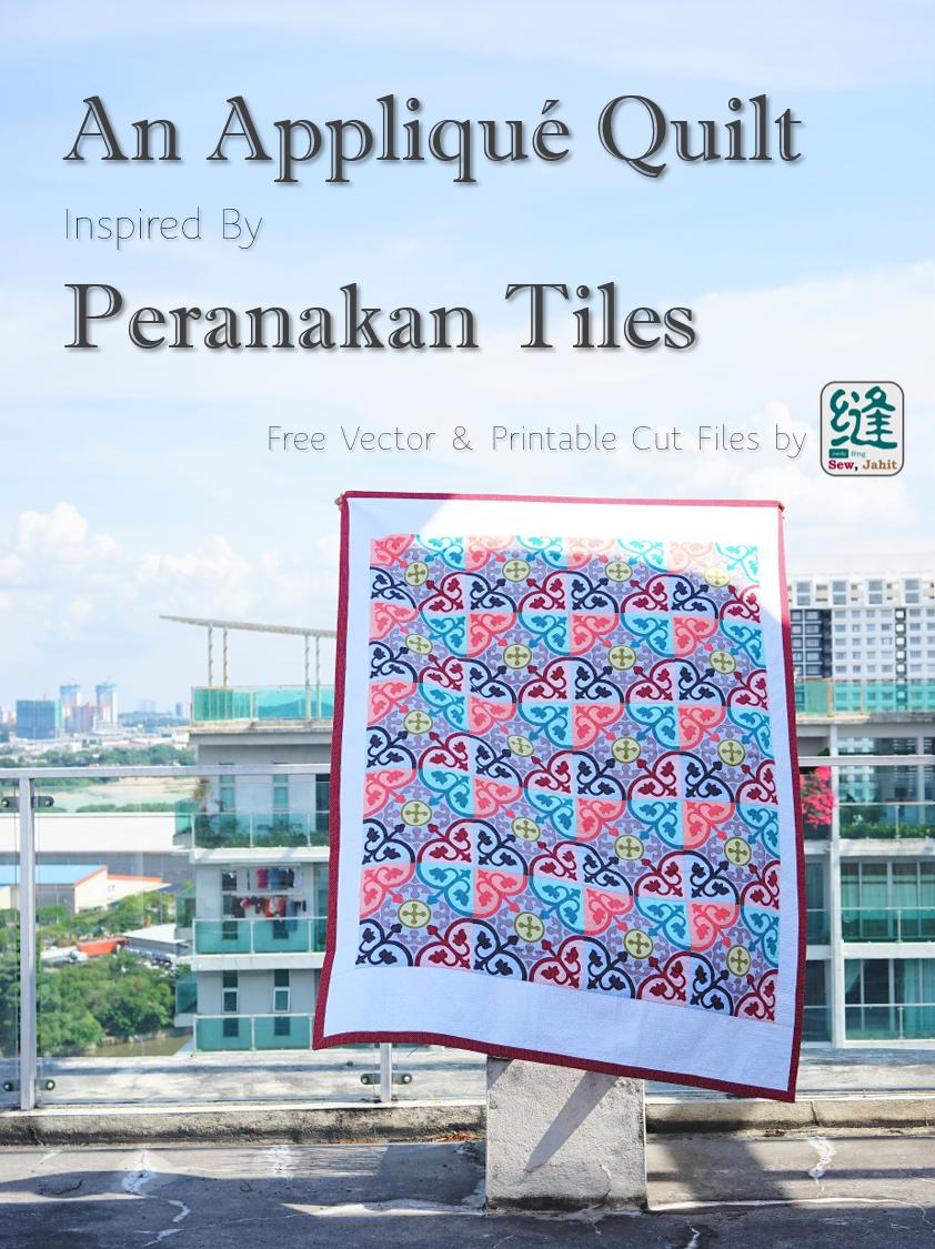 Peranakan Tiles Applique Quilt Cover Photo