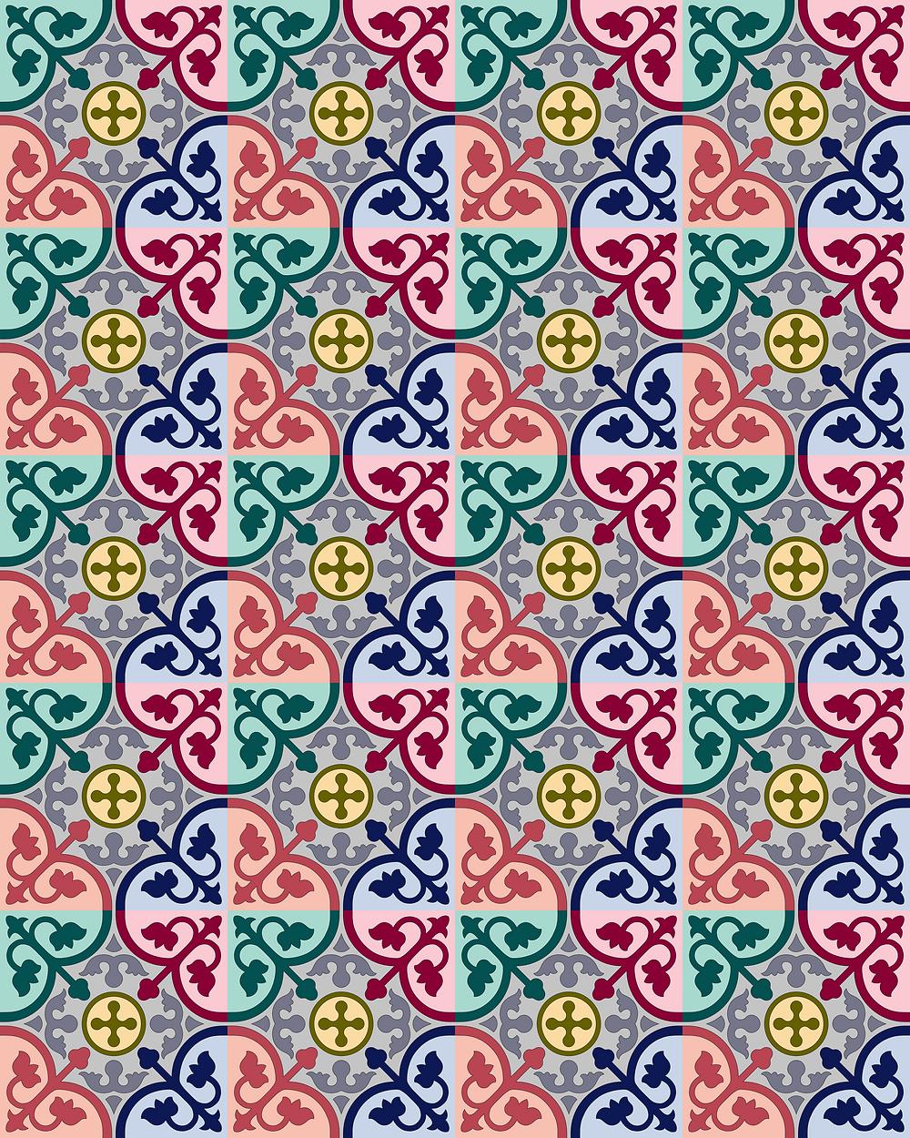 Colourful Peranakan Tiles
