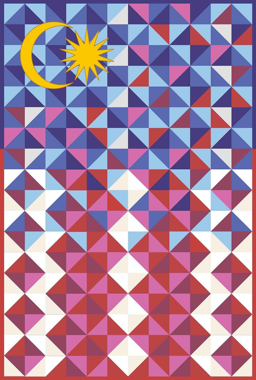 Malaysia national flag jalur gemilang artistic design