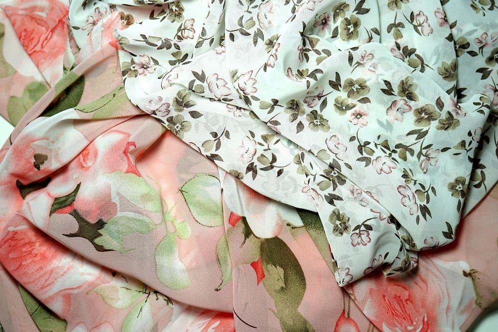 Sheer floral fabrics