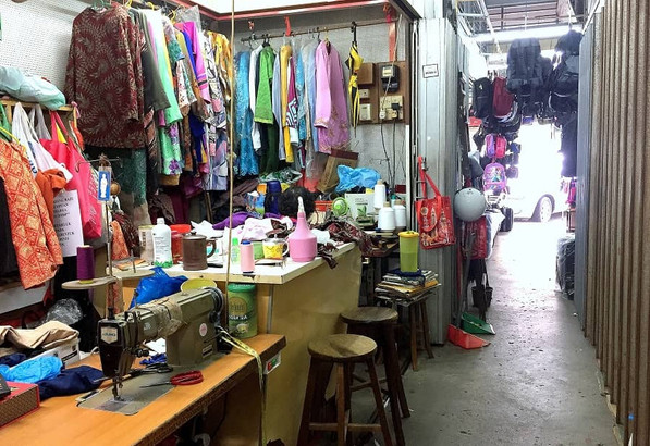 Interior views of the cluster of sewing shops on Kee Ann Road, Malacca.
