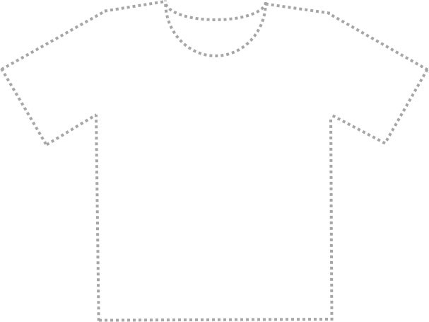 T-shirt outline