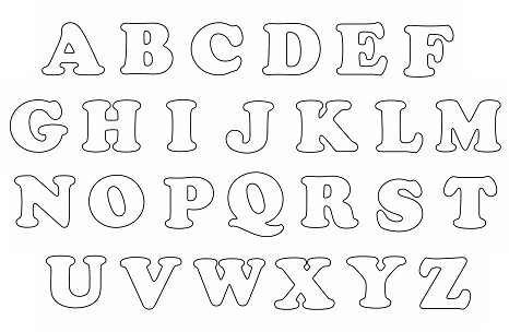 Font for stuffed fabric letters