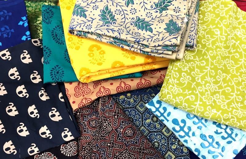 Cotton fabrics from Aparnaa Kolkata, India
