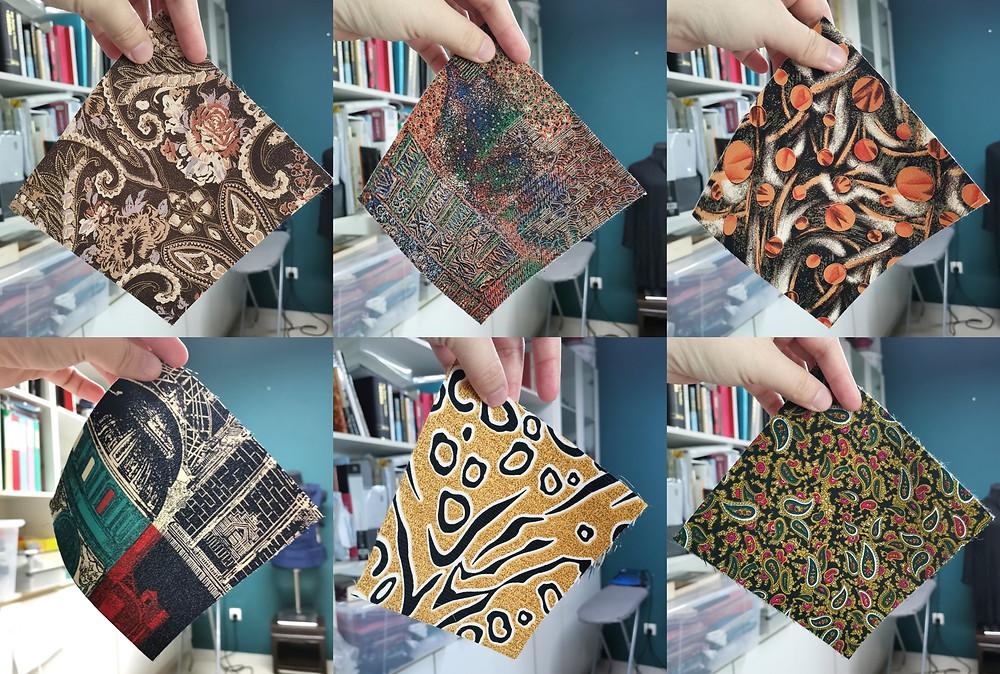 various square fabrics