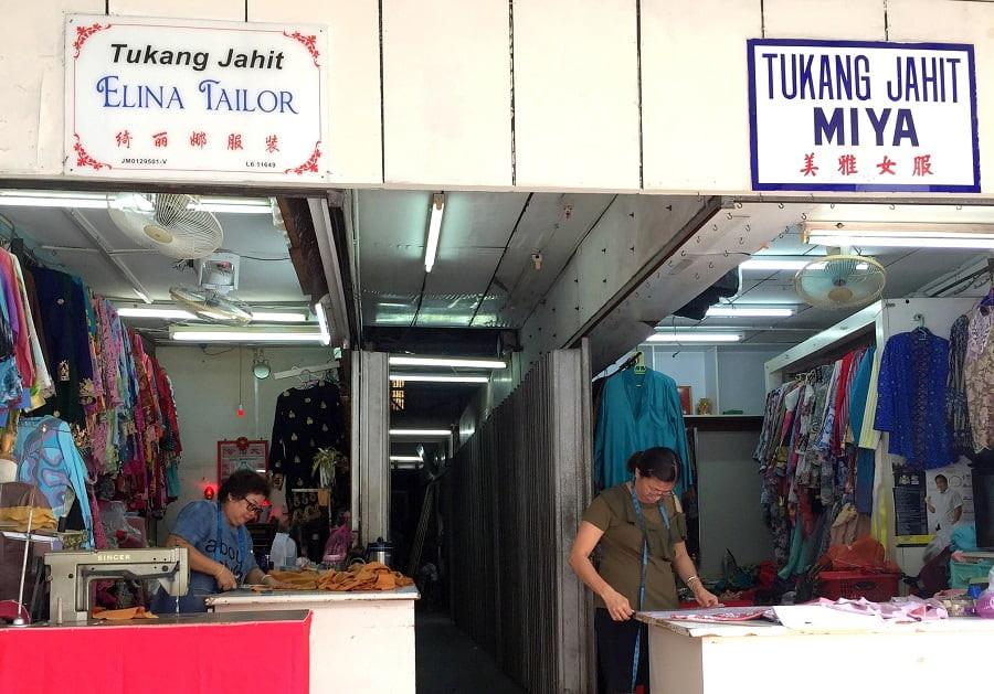 Tailors of Kee Ann Road Malacca. Elina Tailor and Tukang Jahit Miya.